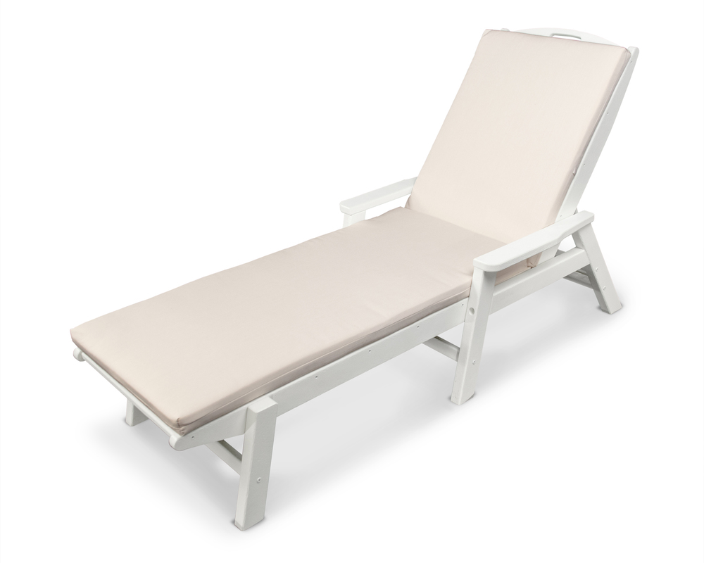 Polywood - Nautical Chaise with Arms and Ateeva Cushion