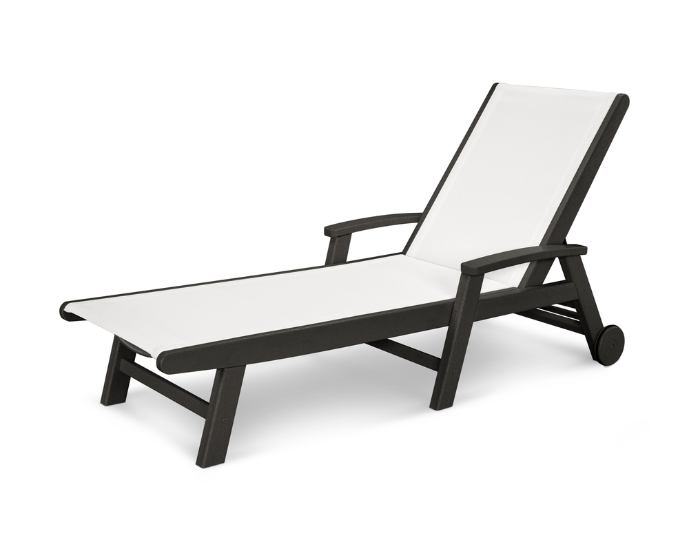Polywood - Coastal Chaise with Wheels