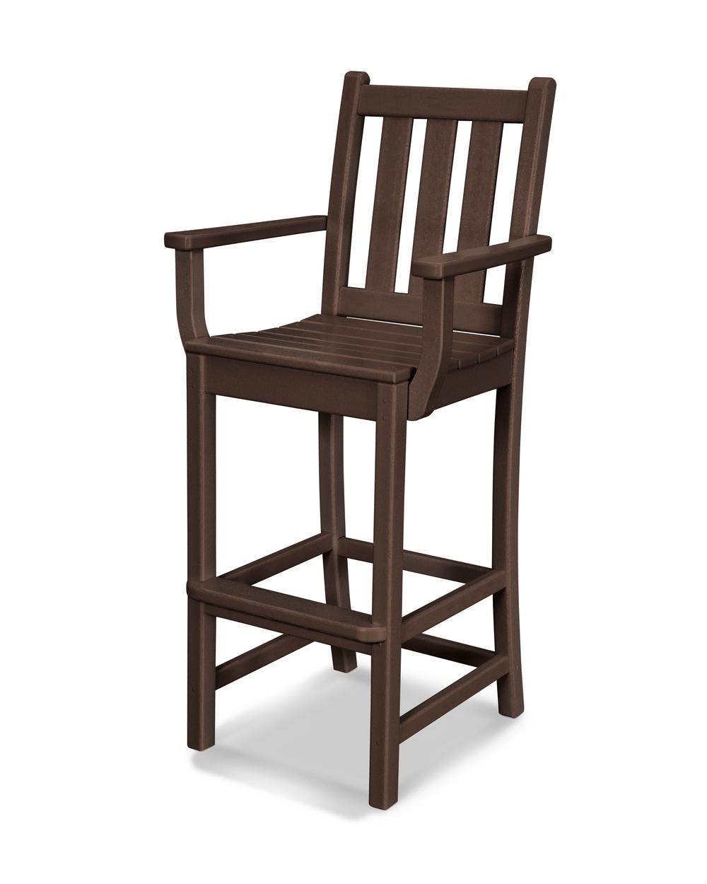 Polywood - Traditional Garden Bar Arm Chair