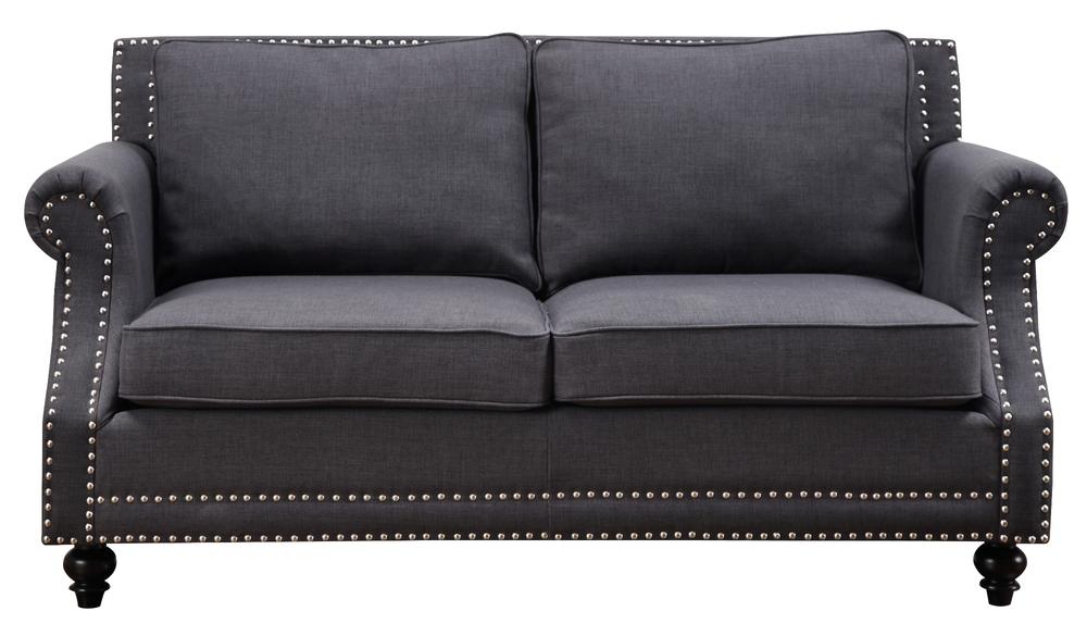 TOV Furniture - Camden Grey Linen Loveseat