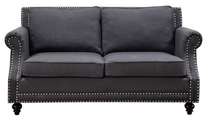 Thumbnail of TOV Furniture - Camden Grey Linen Loveseat