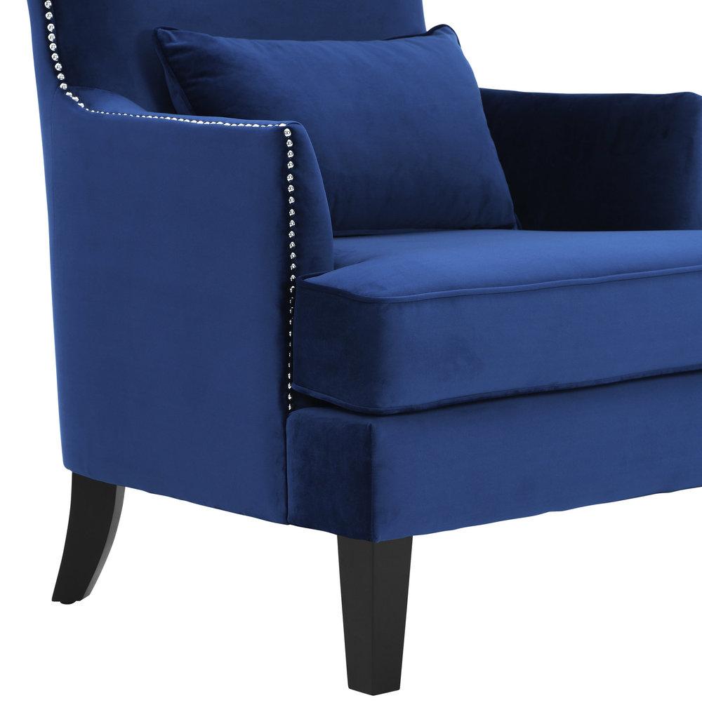 TOV Furniture - Bristol Blue Tall Chair