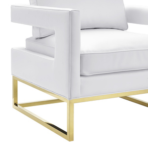 Thumbnail of TOV Furniture - Avery White Leather Chair
