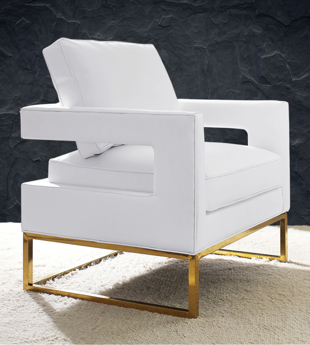 TOV Furniture - Avery White Leather Chair