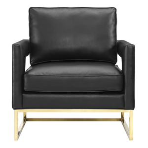 Thumbnail of TOV Furniture - Avery Black Leather Chair