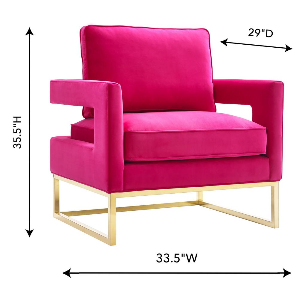 TOV Furniture - Avery Pink Velvet Chair