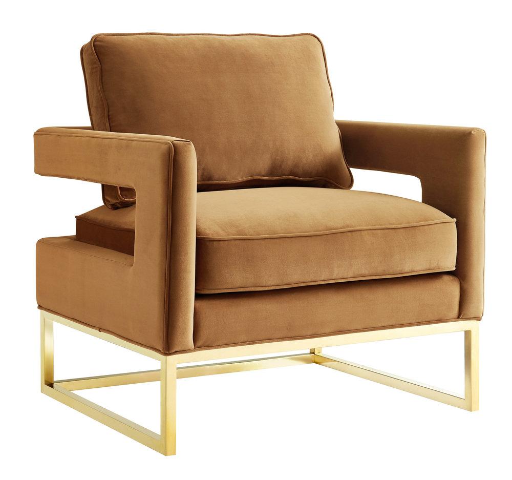 TOV Furniture - Avery Cognac Velvet Chair