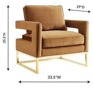 Thumbnail of TOV Furniture - Avery Cognac Velvet Chair