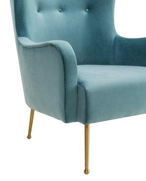 Thumbnail of TOV Furniture - Ethan Sea Blue Velvet Chair