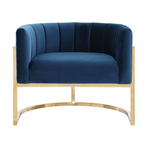 Thumbnail of TOV Furniture - Magnolia Navy Chair with Gold Base