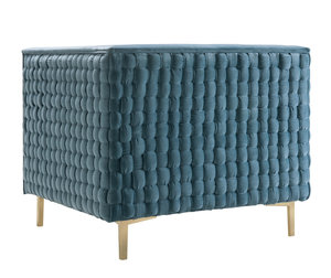 Thumbnail of TOV Furniture - Sal Sea Blue Woven Chair