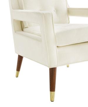 Thumbnail of TOV Furniture - Draper Cream Velvet Chair