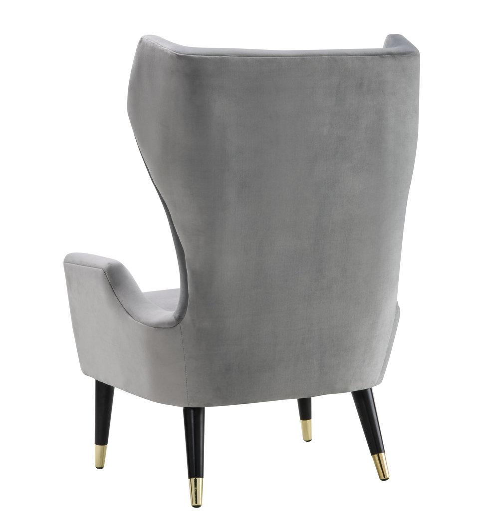TOV Furniture - Logan Grey Velvet Chair