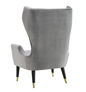 Thumbnail of TOV Furniture - Logan Grey Velvet Chair