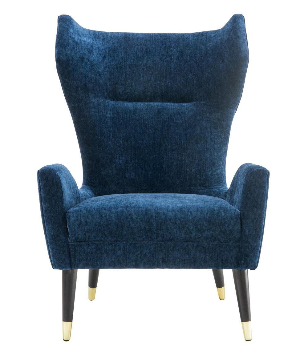 TOV Furniture - Logan Navy Velvet Chair