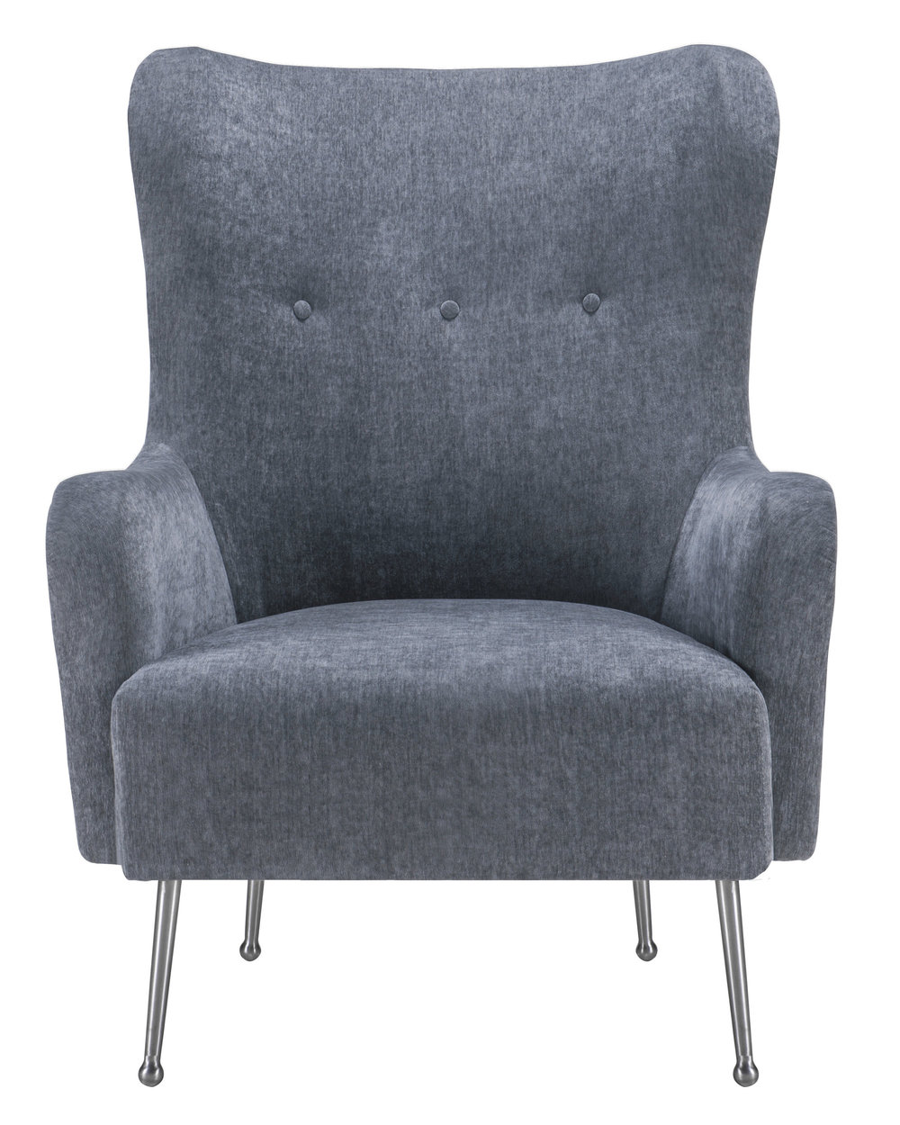TOV Furniture - Ethan Grey Velvet Chair