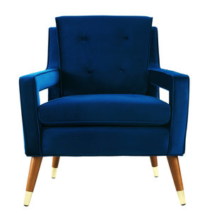 Thumbnail of TOV Furniture - Draper Navy Velvet Chair