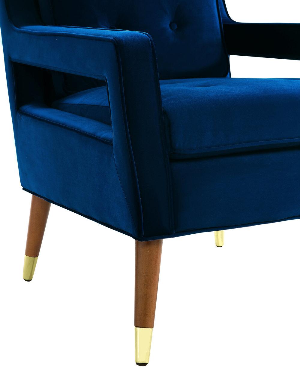 TOV Furniture - Draper Navy Velvet Chair