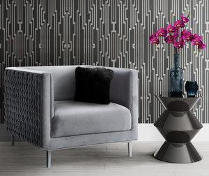 Thumbnail of TOV Furniture - Sal Grey Woven Chair