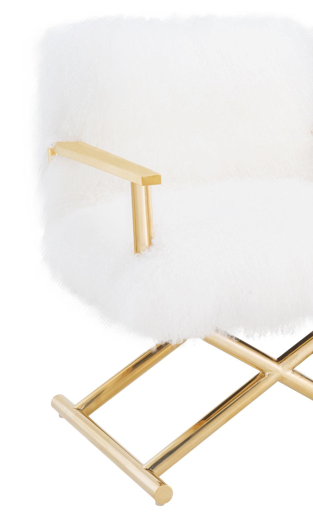 TOV Furniture - Jodi White Sheepskin Chair