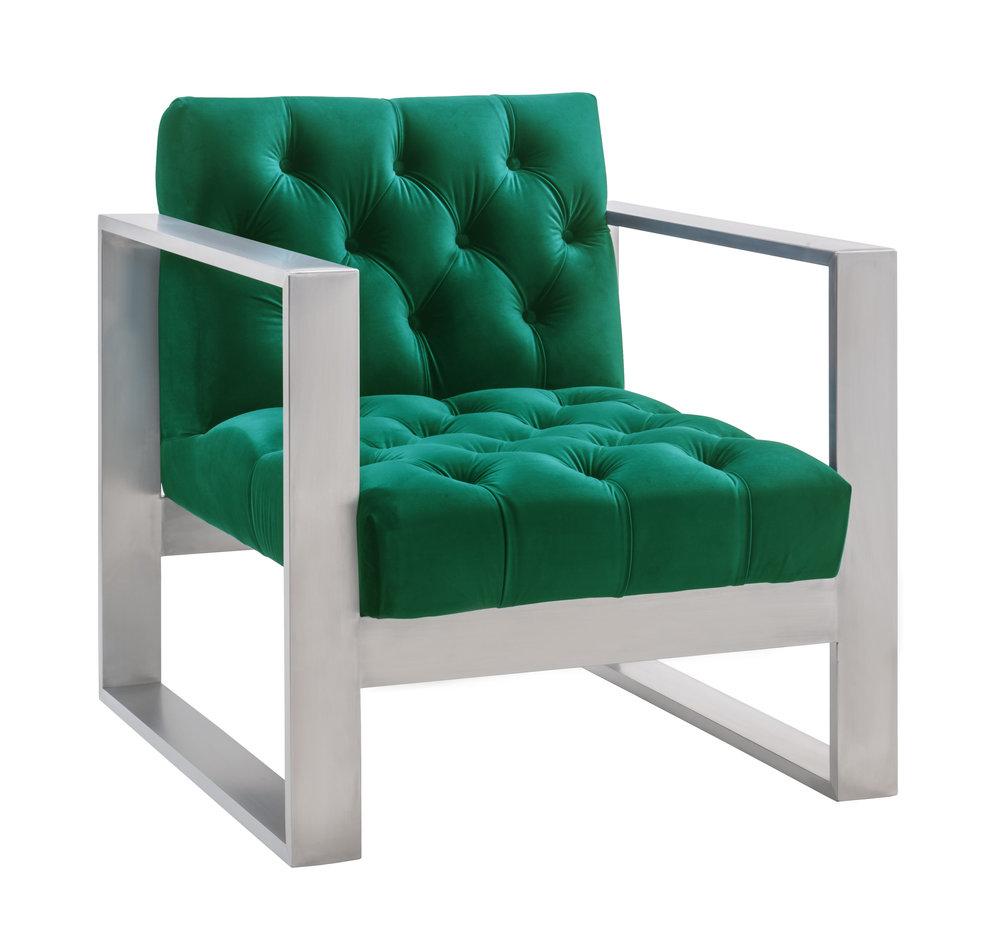 TOV Furniture - Oliver Green Velvet Chair