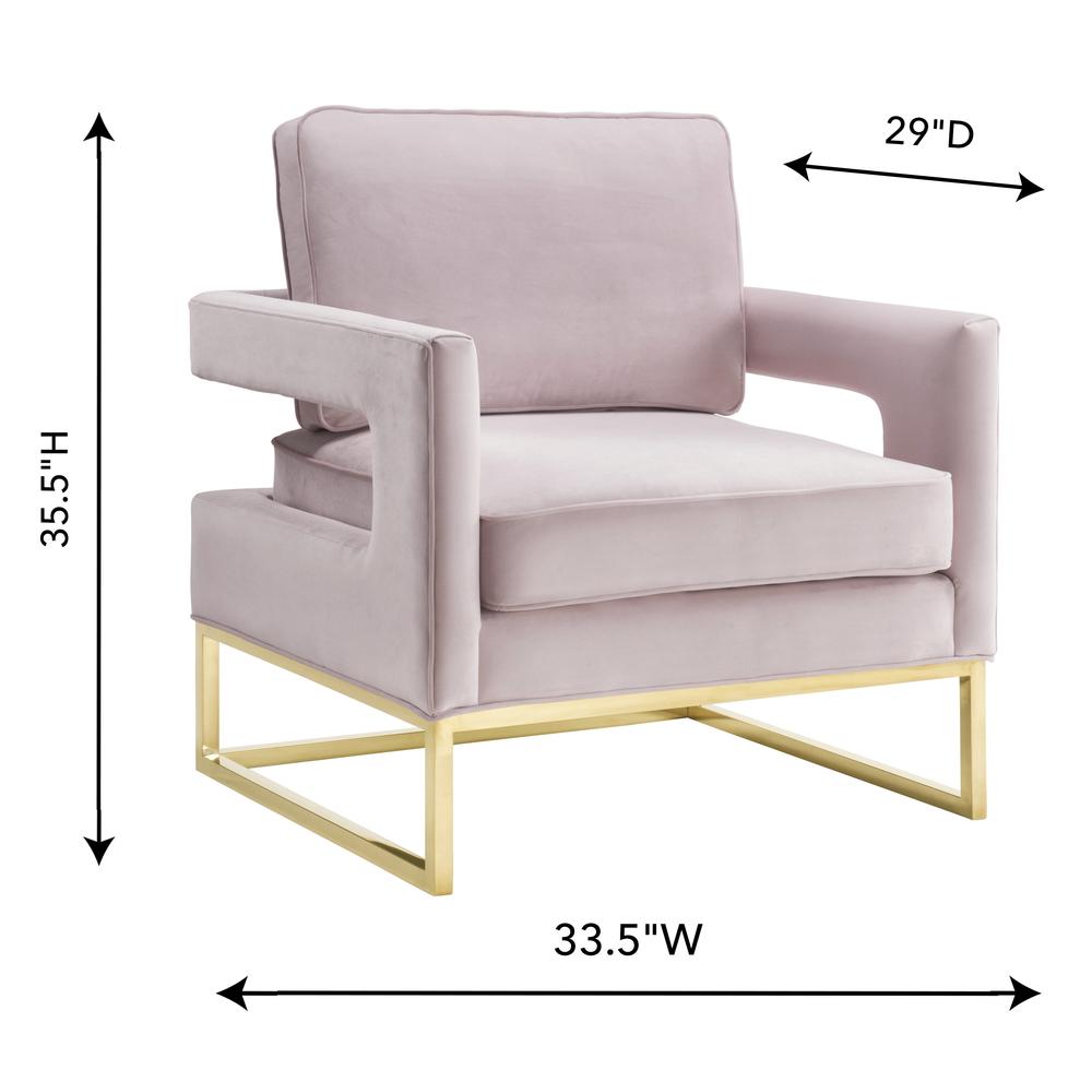 TOV Furniture - Avery Blush Velvet Chair