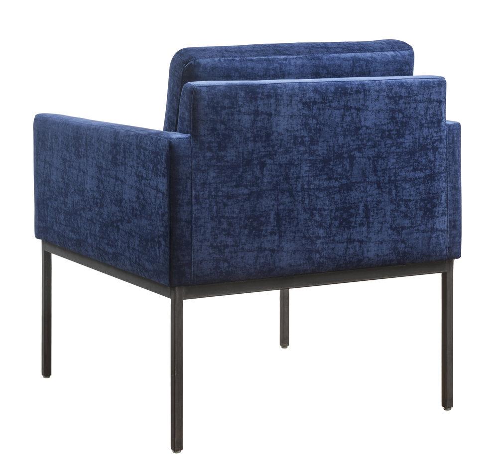 TOV Furniture - Canton Navy Velvet Chair