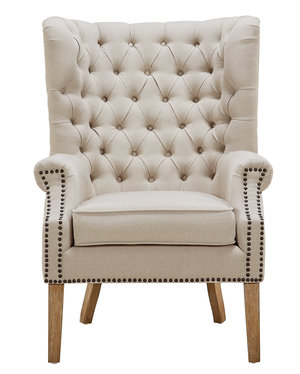 Thumbnail of TOV Furniture - Abe Beige Linen Chair