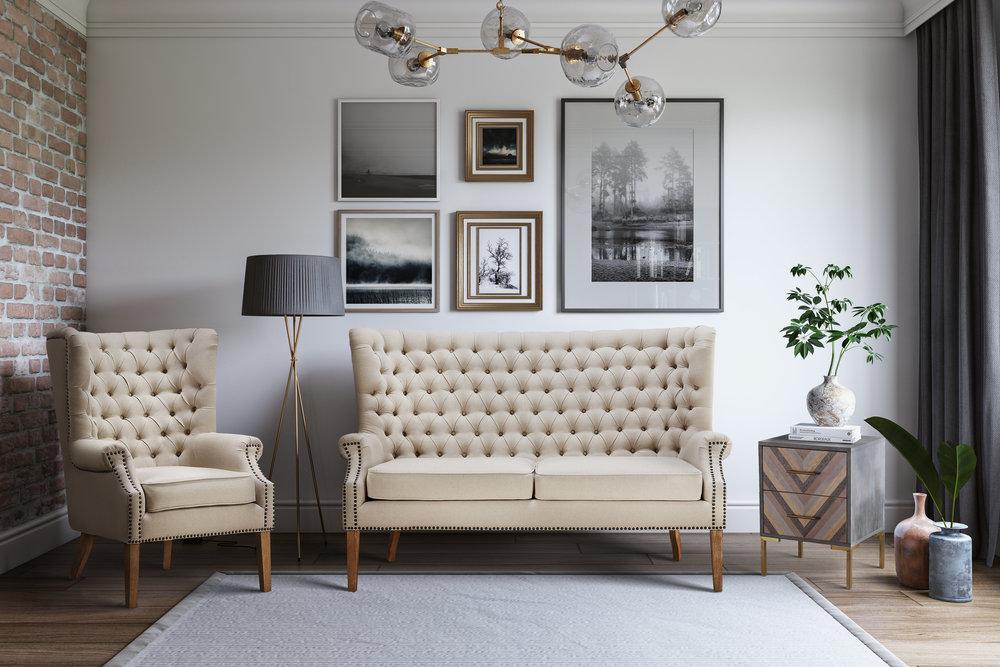 TOV Furniture - Abe Beige Linen Chair