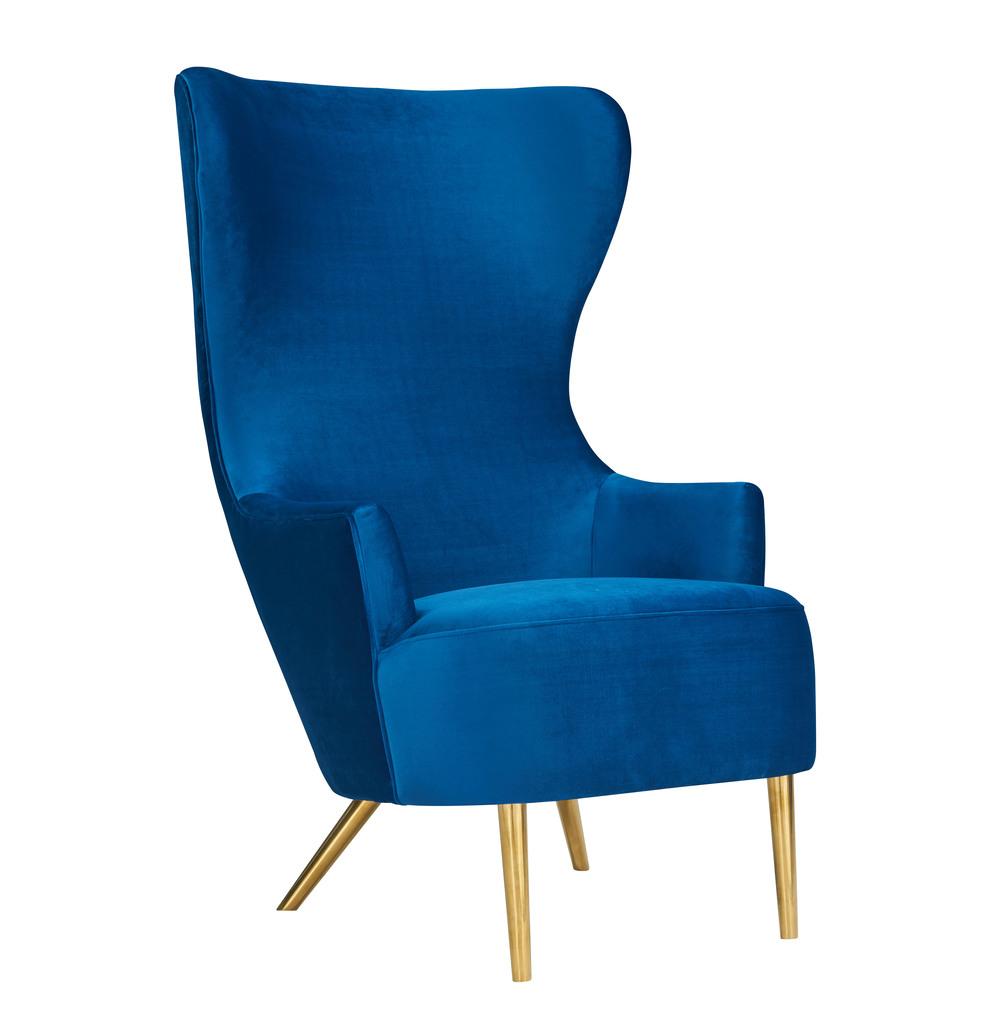 TOV Furniture - Julia Navy Wingback Chair