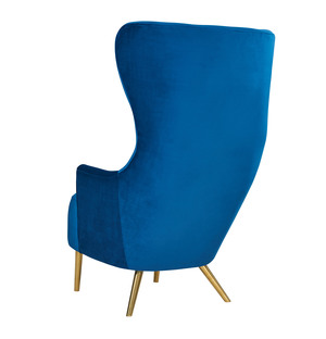 Thumbnail of TOV Furniture - Julia Navy Wingback Chair