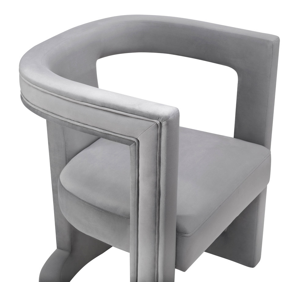 TOV Furniture - Ada Grey Velvet Chair