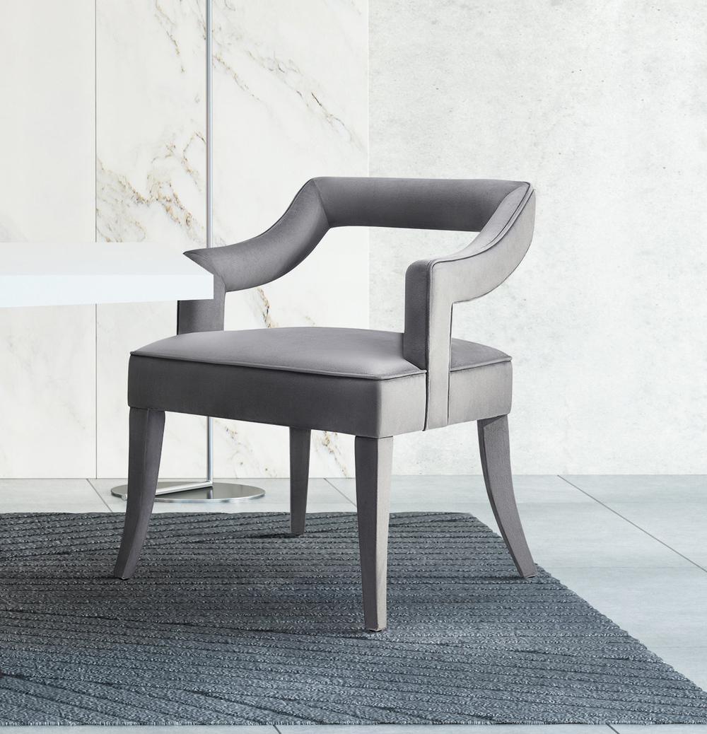 TOV Furniture - Tiffany Grey Velvet Chair