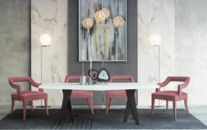 Thumbnail of TOV Furniture - Tiffany Pink Slub Velvet Chair