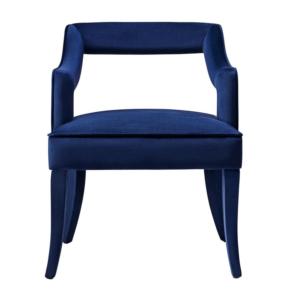 TOV Furniture - Tiffany Navy Velvet Chair