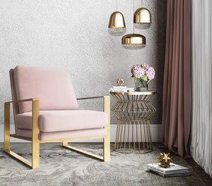 Thumbnail of TOV Furniture - Mott Blush Velvet Chair