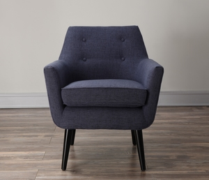 Thumbnail of TOV Furniture - Clyde Navy Linen Chair
