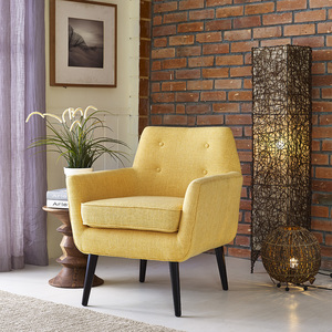 Thumbnail of TOV Furniture - Clyde Mustard Yellow Linen Chair