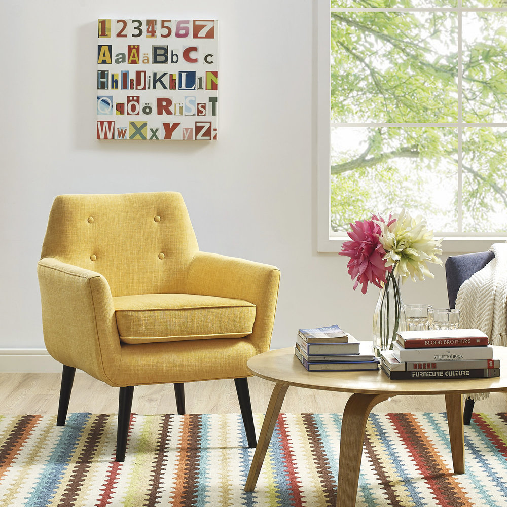 TOV Furniture - Clyde Mustard Yellow Linen Chair