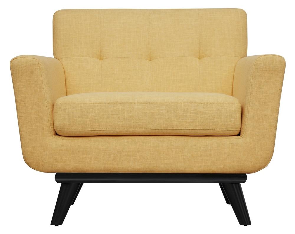 TOV Furniture - James Mustard Yellow Linen Chair