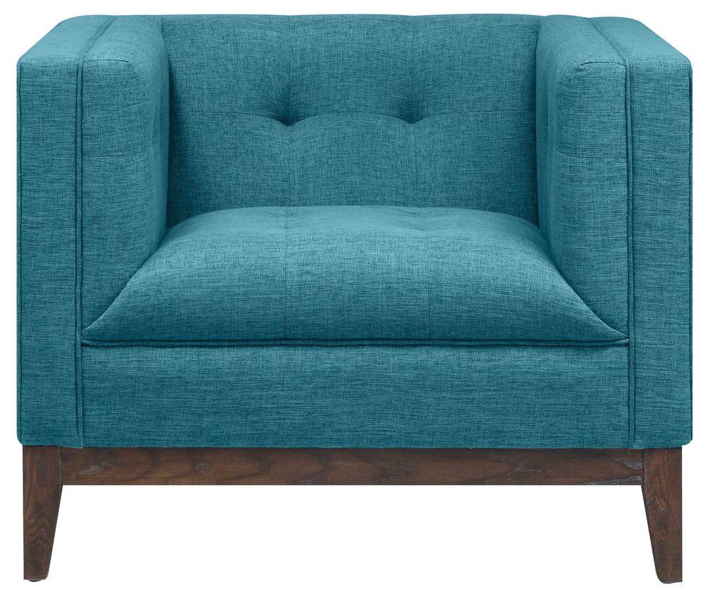 TOV Furniture - Gavin Blue Linen Chair