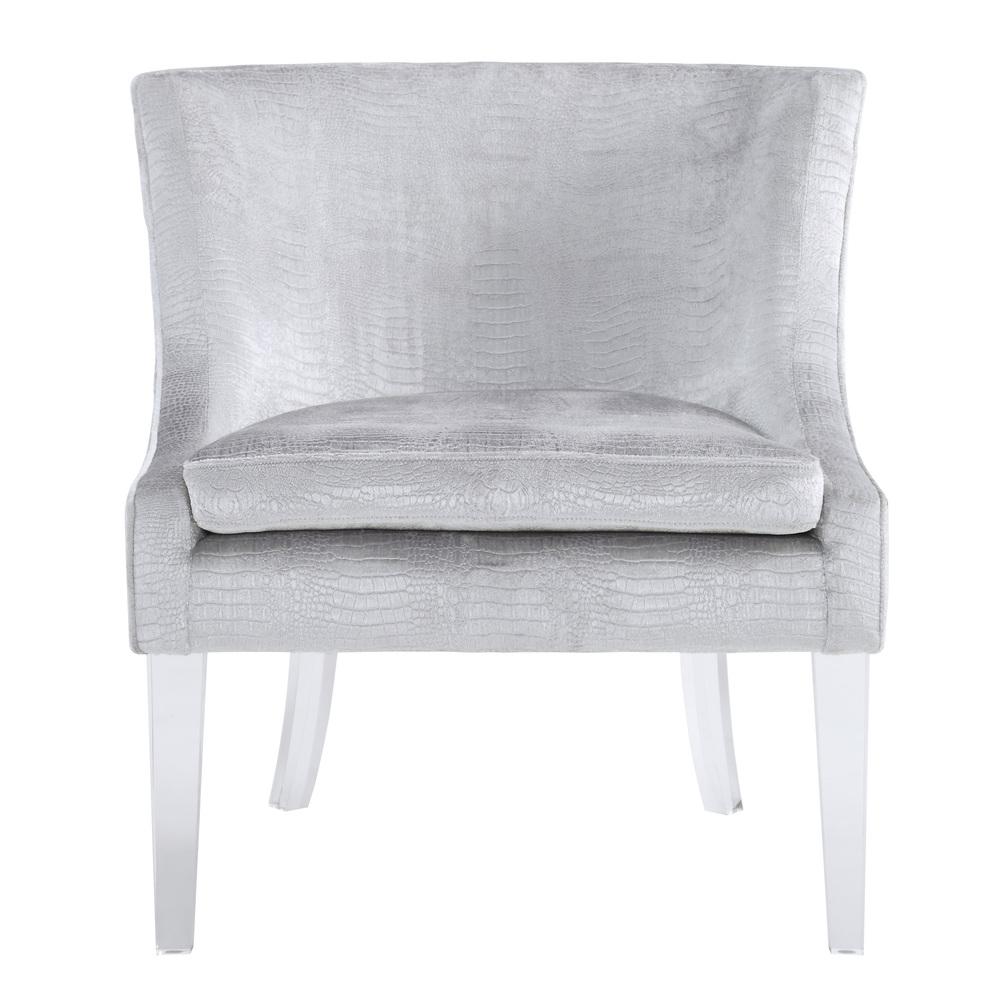 TOV Furniture - Myra Silver Croc Chair