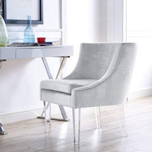 Thumbnail of TOV Furniture - Myra Silver Croc Chair