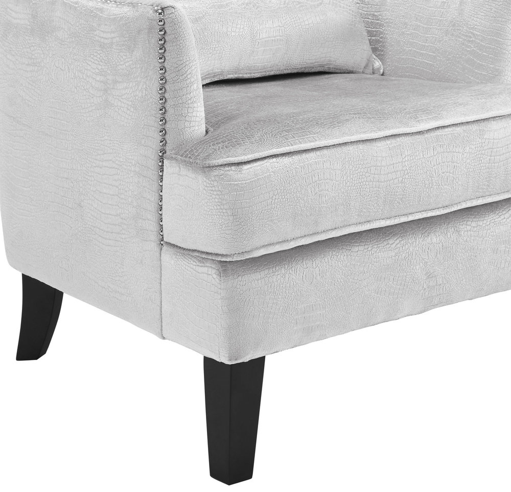 TOV Furniture - Bristol Silver Croc Tall Chair