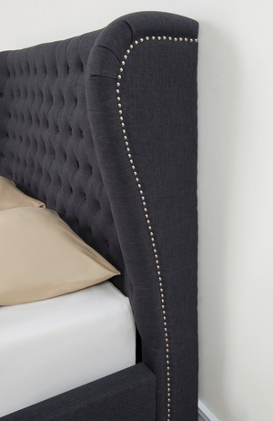 Thumbnail of TOV Furniture - Finley Grey Linen Bed