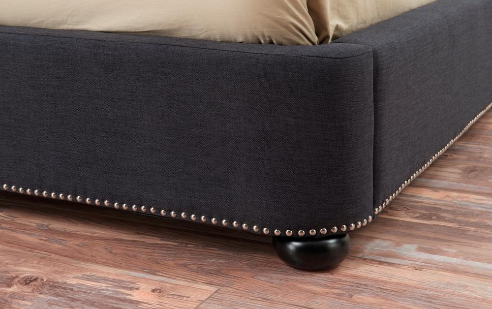 TOV Furniture - Finley Grey Linen Bed