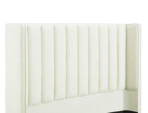 Thumbnail of TOV Furniture - Waverly Cream Velvet Bed in Queen