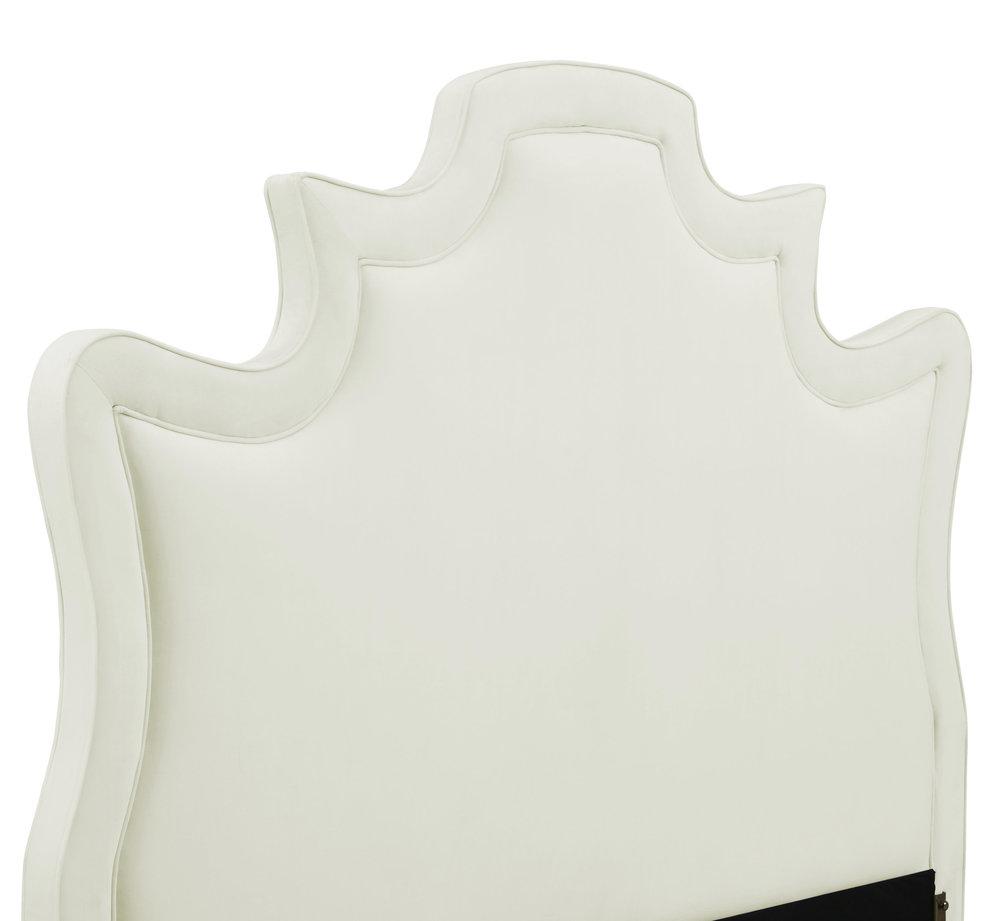 TOV Furniture - Serenity Cream Velvet Bed