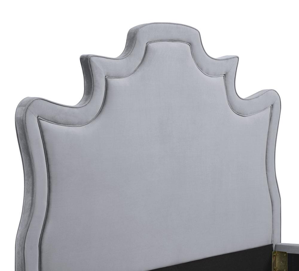 TOV Furniture - Serenity Grey Velvet Bed