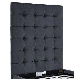 Thumbnail of TOV Furniture - Eden Grey Velvet Bed